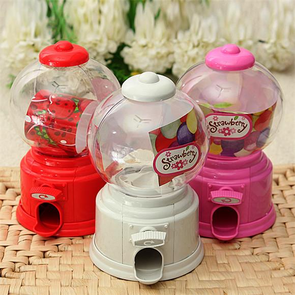 Mini Cute Piggy Twist Candy Machine Dispenser Coin Saving Bank Money Storage Box Decorative Gift For Kids(China (Mainland))