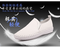 spring and autumn woman  flat round toe shoes single shoes genuine leather casual leather shoes four seasons shoes for driving