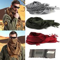 Free Shipping Unisex Women Men  Fashion Army Military Tactical Keffiyeh Checkered Arab Scarf Shawl Neck Head Wrap