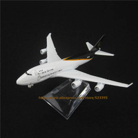 16cm Alloy Metal Airplane Model Air UPS Airlines Boeing 747 B747 400 Airways Plane Model W Stand Aircraft Toy Gift