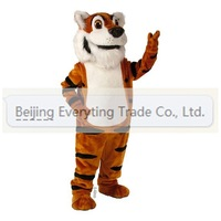 2014 Adult cartoon character lovely tiger Mascot Costume Halloween party costumes adult size