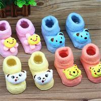 6 pair = 12 pieces Free shipping Baby Socks newborn Animal Baby Outdoor Shoes Baby Anti-slip Walking Children Sock kid's Gift