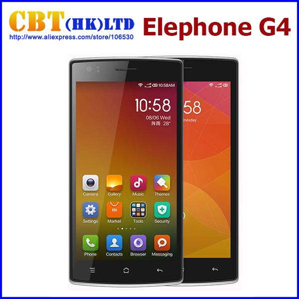 """Originais 5 """" Elephone G4 MTK6582 Quad Core 1.3 GHz celulares Android 4.4 Dual Camera Dual SIM apoio cartão TF GPS WCDMA(Hong Kong)"""