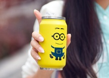 Creative Coke cans stainless steel vacuum flask thermos mug little yellow people
