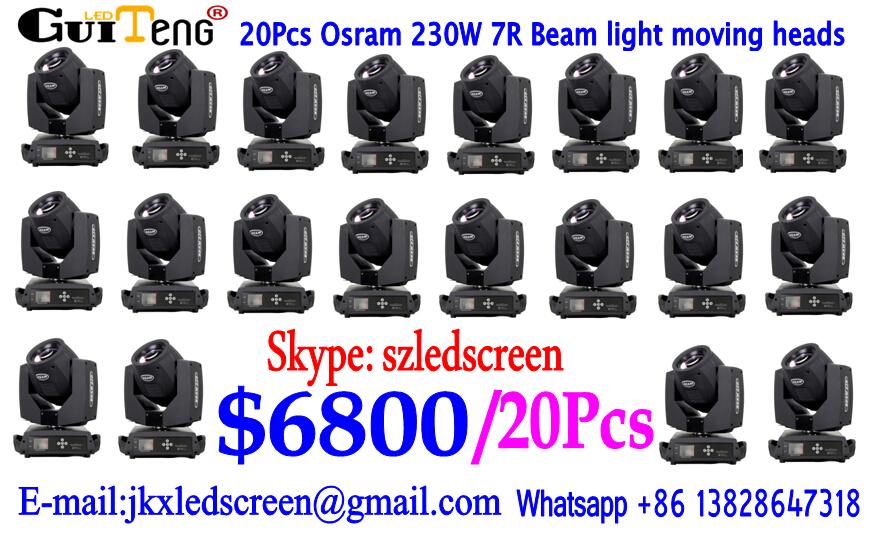 20pcs/lot touch screen Sharpy 7r 230w fascio di luce in movimento della testa/recommened pro in movimento fascio la testa 230