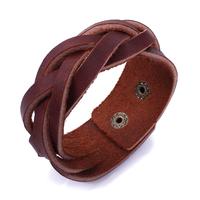 Unisex Leather Bracelet Simple Retro Style Jewelry
