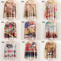[AMY] 2014 new Autumn Winter frozen vestido Women Batwing letter 3D Sleeve Sweater Loose Jumper Pullover KnitwearTops S10-S18
