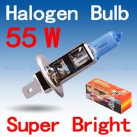 250pcs H1 Super Bright White Fog Halogen Bulb 55W Car Head Light Lamp wholesale with Retail Box parking