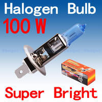 250pcs H1 Super Bright White Fog Halogen Bulb 100W Car Head Light Lamp wholesale with Retail Box promotion parking