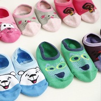 New arrival wholesale Cute Christmas Gifts 100% cotton Baby socks rubber slip-resistant  Non-slip floor small kid's socks