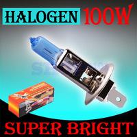 50pcs H1 Super Bright White Fog Halogen 100W Head Lamp headlight auto parts wholesale Long Warranty parking car light source