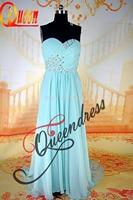 Vestido de Noite Sweetheart Neckline Real Beautiful Pleats Beading Evening Gown Of Chiffon