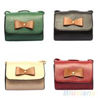 Women's Mini Camera Bag Cute Bowknot Purse Cross Body  Handbag Candy Clutch