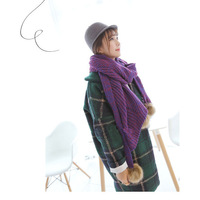 2014 New Fashion Winter Thick Wool Scarves Bevel Big Shawl Mixed Color Knit Wool Wholesale Super Warm Scarves 220CM