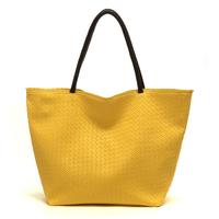 Hot 2014 candy color block casual fashion woven bag vintage women handbag shoulder bag shopping bag casual women leather handbag