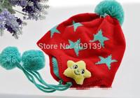 2014 Children Hat Cap with ear flap Stars Grils boys Winter Warm Hats Knitted Crochet Kids Caps 2-8Y