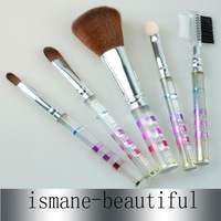5pcs Synthetic Hair Acrylic Handle Makeup Brush Set 3 Color for choice