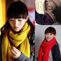 New Style Korean Long Soft Knitting Scarf Muffler Stole Shawl Winter Autumn 7 Colors