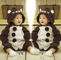(0~2 years old) Factory Direct Spring Fall Brand Brown Bear Animal Shapes Baby Boy Girl Romper Newborn Clothes Climbing Jumpsuit