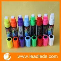 8colors/lot Highlighter Fluorescent Liquid Chalk Marker Pen for LED Writing Board