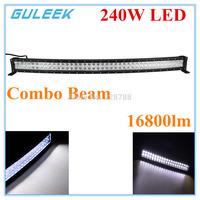 240W Type/G  6000K 80-Cree LED Work Light Bar DIY Used in Car/Boat/Auto Headlight Combo