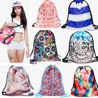 Fashion 3D Print Lolita style shopping bag Women casual  foldable reusable shopping bag Harajuku handbag