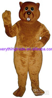 Hot sale 2014 Character Adult lovely Groundhog Mascot Costume fancy dress Halloween party costume
