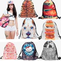 Fashion 3D Print Casual Women Man sport bag  gym backpacks Harajuku mochila bolsa deporte