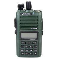 Camouflage Green Walkie Talkie PUXING PX-888K UHF+VHF 400-480MHz 136-174Mhz 5W 128CH FM Radio Scrambler Two Way Radio A0878G