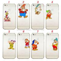 For iPhone 6 4.7, 6 Plus 5.5 Little Man Seven Dwarfs Clear Transparent Hard Case