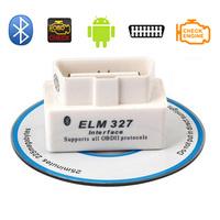 3 years Warranty SUPER MINI ELM327 Bluetooth OBD2 V2.1 White Smart Car Diagnostic Interface ELM 327 Wireless Scan Tool B01