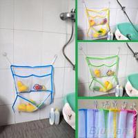 Home Bathroom Suction Net Bag Bath Baby Kid Storage Organizer Tidy Toy bag