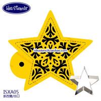 """Cookies Stencils"" Star geometric mosaic spray stencilSugar powder sieve fondant cake mold spray design,HMC039A05"