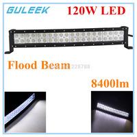 120W Type/G  6000K 40-Cree LED Work Light Bar DIY Used in Car/Boat/Auto Headlight Flood