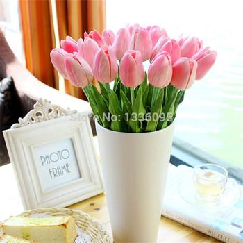 Один маленький шелковый тюльпан искусственной имитации цветы для дома украшения украшения по организации искусства TH026