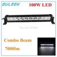 100W Type/H 6000K 10-Cree LED Single Work Light Bar DIY Used in Car/Boat/Auto Headlight Combo