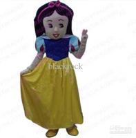 Hot sale 2014 Adult White beautiful Little Princess Mascot Costume Cartoon Mascot Costume