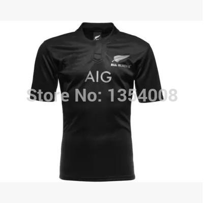 New Zealand All Blacks Rugby Shirt 2014/15 Season All Blacks Men Rugby Football Jersey best quality jersey 2015 all blacks S-2XL(China (Mainland))