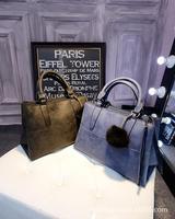 Korean fashion autumn/winter 2014 new nubuck leather single-shoulder diagonal portable female Bao Chao Briefcase factory outlet