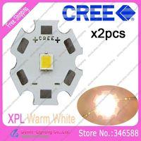 2pcs/lot! Cree XLamp XPL XP-L Warm White 3000K-3500K 10W High Power LED Emitter Bulb on 20mm Star Platine Heatsink