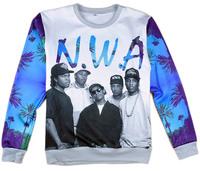 Alisister harajuku men/women's N.W.A Team pullover hoodies 3d print character sweatshirts Hip hop hoodies long shirt clothing