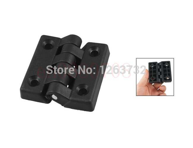 2PCS 65mm x 64mm Cabinet Door Plastic Butt Ball Bearing Hinge Black(China (Mainland))