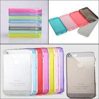 Ultra Thin Transparent Soft Silicon Phone5/5s Case Crystal Case Cover For Phone 5 5S Phone Case Soft TPU Flip Cover Transparent