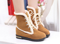 2015 Autumn/ Winter Women Boots Shoes Children Snow Boots Padded Non-Slip Soft Bottom Female Ankle Leahter Boots
