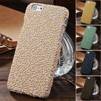 Palace Flower 3D Case For iPhone 6 4.7 Inches Plastic Hard Back Cover Deluxe Phone Bag New 2014