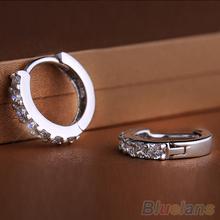 Hot Fashion Jewelry White Topaz Crystal 925 Sterling Silver Earrings 1WZW