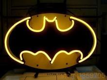 "HOT  BATMAN COMIC HERO  REAL GLASS NEON SIGN BEER BAR PUB LIGHT SIGNS store display 17*14""(China (Mainland))"