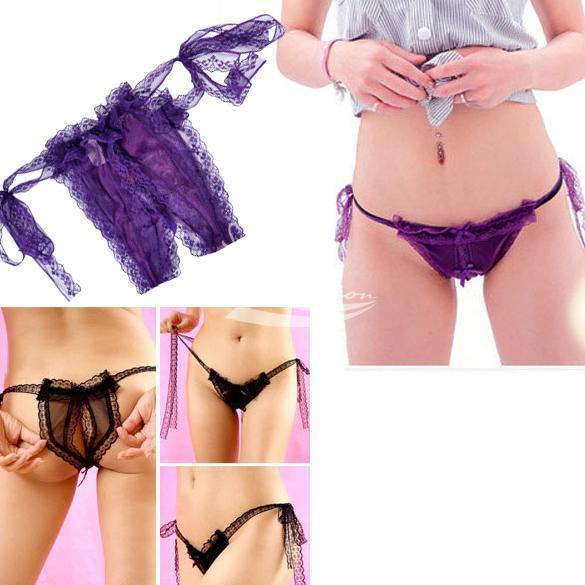 Feminina Sexy Abra Crotch Slipknot Thongs G -string Bikini Lingerie Underwear(China (Mainland))