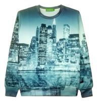 New 2015 fashion Women/Men print city midnigh beautiful 3D Hoodies Pullovers sweaters ancient Galaxy sweatshirts