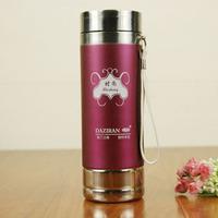 Stainless steel seamless vacuum tea bottle with hang strip J1121